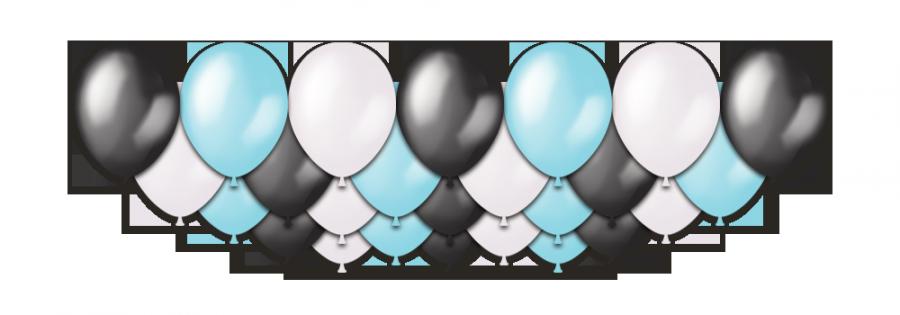 """Набор воздушных шаров с гелием """"Black Ice Metallic"""", 25 штук"""