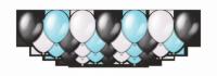 Набор воздушных шаров с гелием Black Ice Metallic, 25 штук