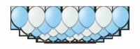 """Набор воздушных шаров с гелием """"BlueSky"""", 25 штук"""