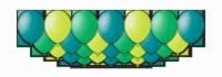 """Набор воздушных шаров с гелием """"Emerald Cloud"""", 25 штук"""