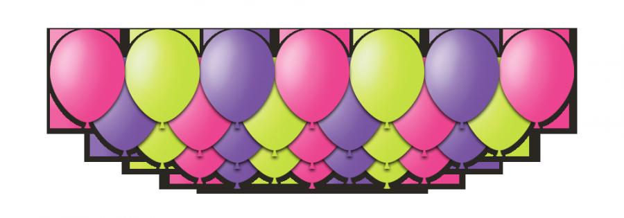 Набор воздушных шаров с гелием лавандовый с розовым