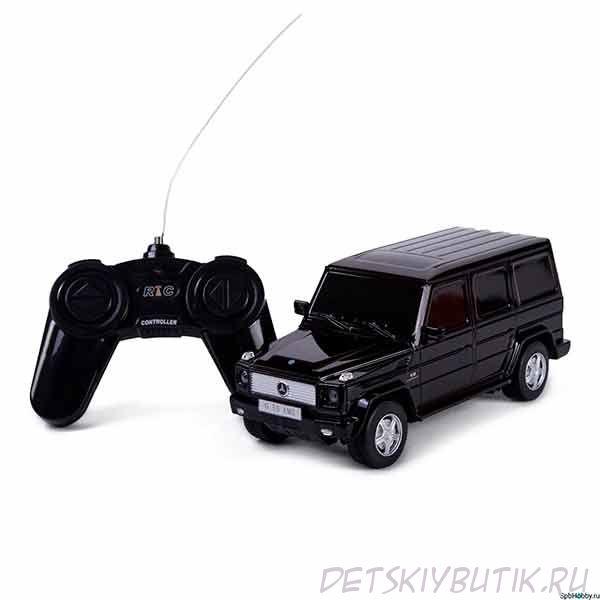Машинка радиоуправляемая - Mercedes-Benz G55, цвет черный 1:24