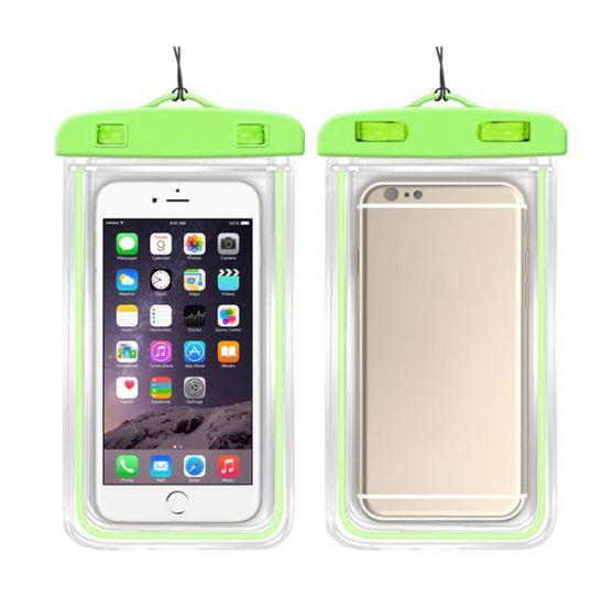 Водонепроницаемый чехол-пакет для телефона, цвет зеленый