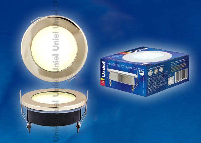 Встраиваемый светильник Uniel GX53-9/4000/H5 GOLD