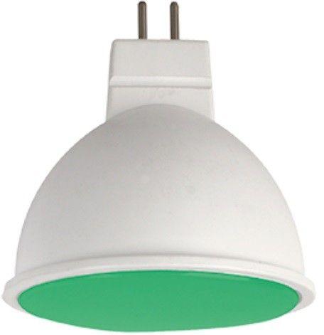 Светодиодная лампа Ecola MR16 GU5.3 220V 7W Зеленый матов.  47x50 M2TG70ELC