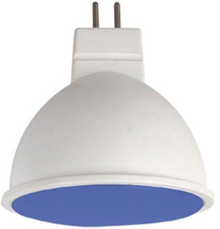 Светодиодная лампа Ecola MR16 GU5.3 220V 7W Синий матов.  47x50 M2TB70ELC