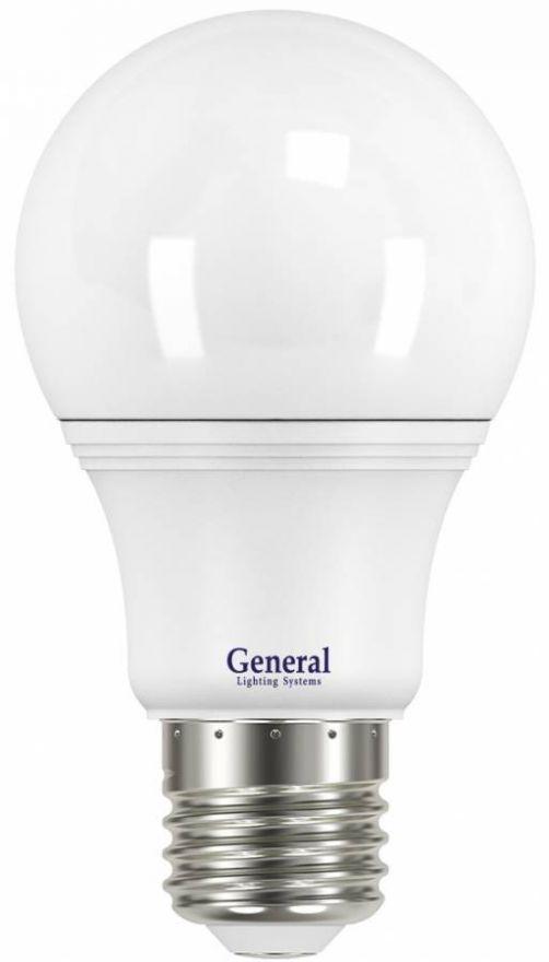 Светодиодная лампа General ЛОН A60 E27 17W(1650lm) 6500K 6K 60x110 пластик/алюмин. 637500