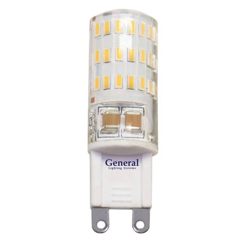 Светодиодная лампа General G9 5W(320lm) 4500K 4K 50x15 силикон BL5 (цена за 1шт.) 653700