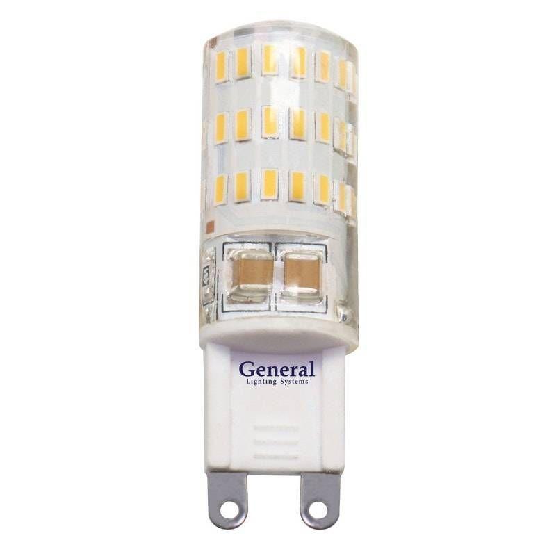 Светодиодная лампа General G9 5W(300lm) 2700K 2K 50x15 силикон BL5 (цена за 1шт.) 653600