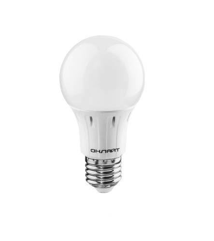 Светодиодная лампа ОНЛАЙТ ЛОН A60 E27 15W(1350lm) 6500K 6K 115x60 OLL-A60-15-230-6.5K-E27 61151
