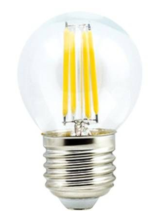 Светодиодная лампа Ecola шар G45 E27 6W 4000K 4K 360° 68x45 филамент (нитевидная), прозр. Premium N7PV60ELC