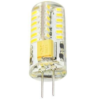 Светодиодная лампа General G4 12V 3W(150lm) 4500K 4K 36x10 силикон BL5 (цена за 1шт.) 652300