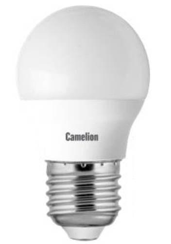 Светодиодная лампа Camelion Шар G45 E27 5W(405lm 220°) 4500K 4K матов. 74x45 пластик LED5-G45/845/E27