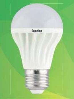 Светодиодная лампа Camelion ЛОН A60 E27 7W(520lm 180°) 4500K 4K матов. 108x60 пластик LED7-A60/845/E27