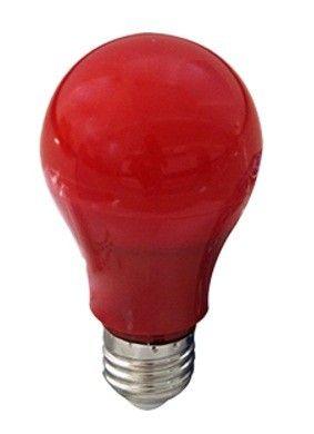 Светодиодная лампа Ecola ЛОН A60 E27 12W красная 360° 110x60 K7CR12ELY