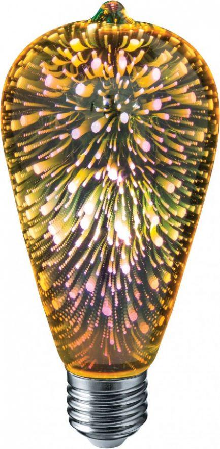 Светодиодная лампа Navigator декоративная 4W E27 140х64 мм NLL-3D-ST64-4-230-E27 61486