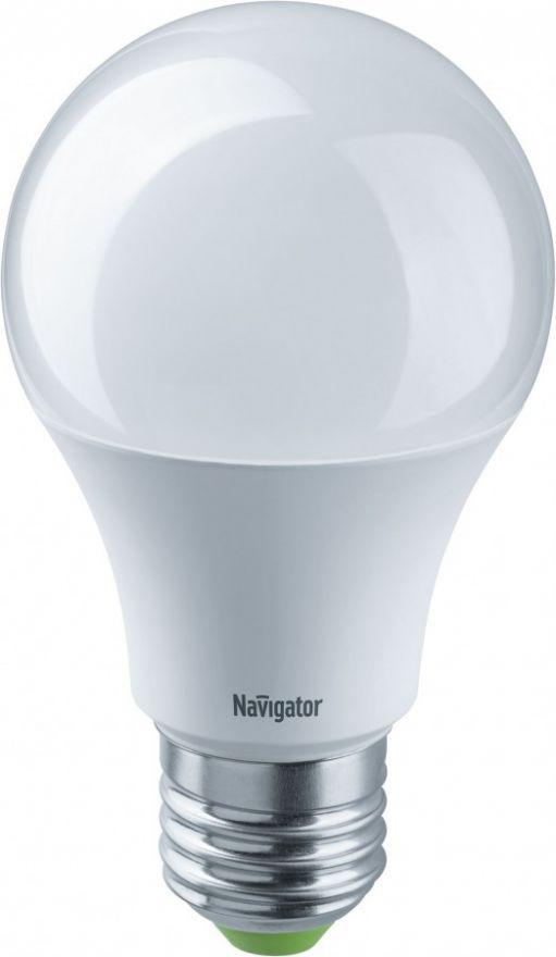 Светодиодная лампа Navigator ЛОН А60 E27 12W(lm) 4000 4K 24/48V 55х105 NLL-A60-12-24/48-4K-E27 61478