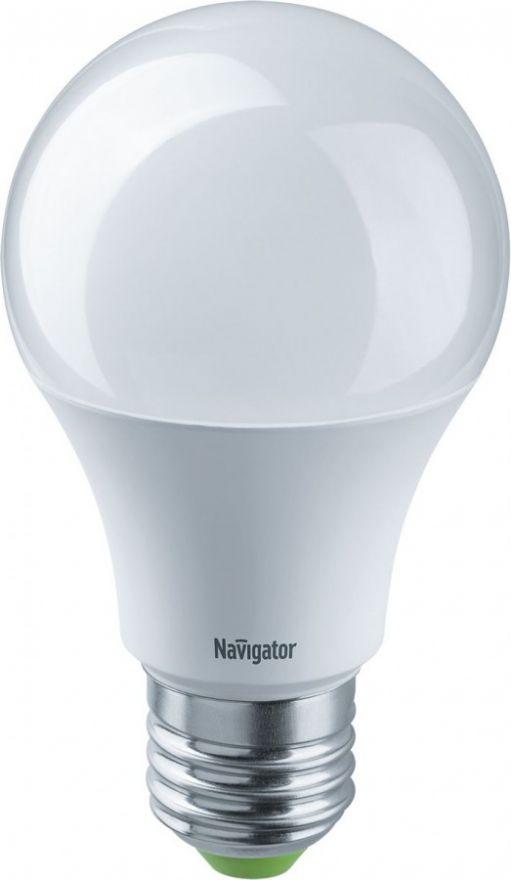 Светодиодная лампа Navigator ЛОН А60 E27 7W(lm) 4000 4K 12/24V 55х105 NLL-A60-7-12/24-4K-E27 61473