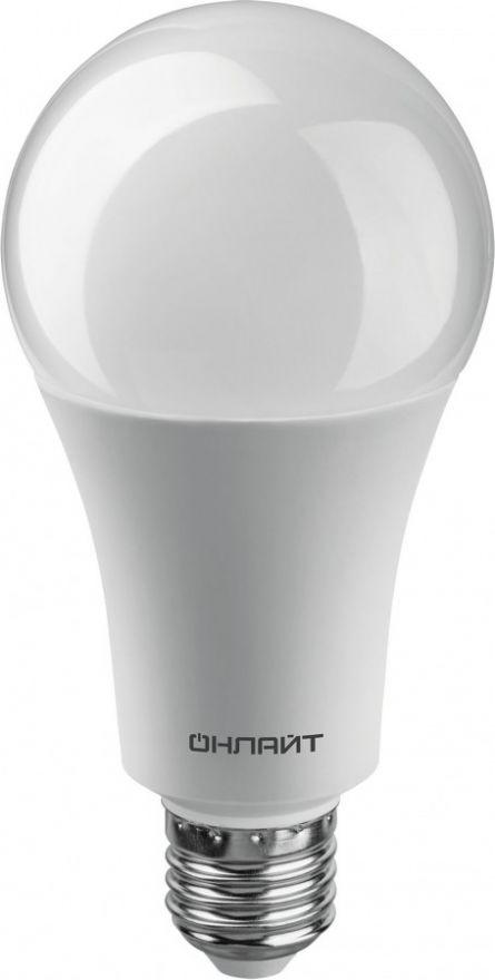Светодиодная лампа ОНЛАЙТ ЛОН A70 E27 25W(2100Lm) 4000K 4K 142x70 ОLL-A70-25-230-4K-E27 61954