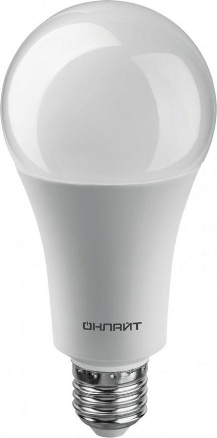Светодиодная лампа ОНЛАЙТ ЛОН A70 E27 30W(2700Lm) 6500K 6K 148x70 ОLL-A70-230-230-6K-E27 61972