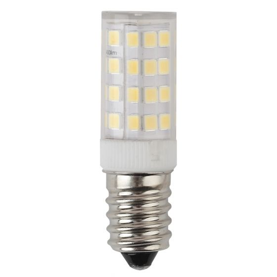 Светодиодная лампа ЭРА Т25 5W (400lm) E14 4000К 4К 54х16 кукуруза (для холодил., шв. машин) LED T25-5W-CORN-840-E14