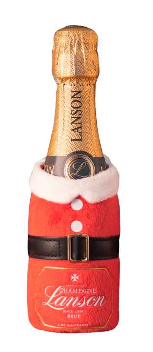 Champagne Lanson Black Label Brut in pouch Santa Claus, 0.2 л.