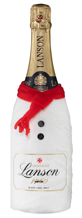 Champagne Lanson Black Label Brut in giftbox Snowman, 0.75 л.