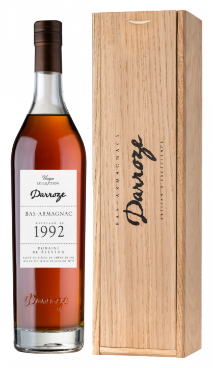 Bas-Armagnac Darroze Unique Collection Domaine de Rieston a Perquie 1992, 0.7 л., 1992 г.