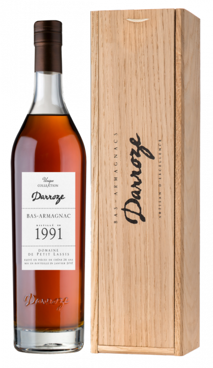 Bas-Armagnac Darroze Unique Collection Domaine de Сoquillon au Freche 1991, 0.7 л., 1991 г.