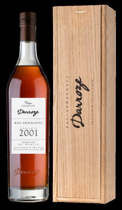 Bas-Armagnac Darroze Unique Collection Domaine de Couzard-Lassalle a Mauleon d'Armagnac 2001, 0.7 л., 2001 г.