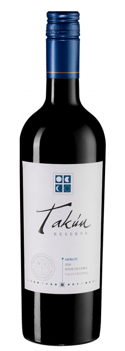 Takun Merlot Reserva, 0.75 л., 2016 г.