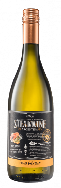 Steakwine Chardonnay, 0.75 л., 2018 г.