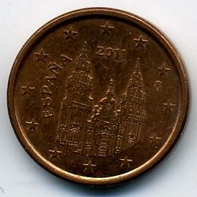 Испания 1 евроцент 2011