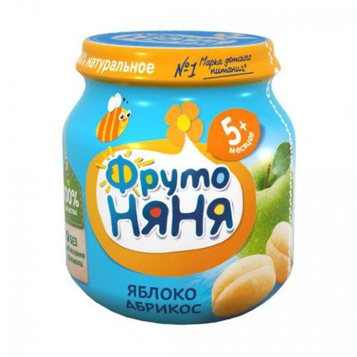 Пюре Фрутоняня из яблок и абрикосов для детей с 5 месяцев, 100г