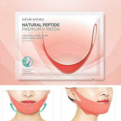 Патч моделирующий с пептидами Nature Republic Natural Peptide Premium V Patch 8гр
