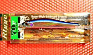 Воблер ZipBaits Rigge 70F 70 мм / 4,7 гр / Заглубление: 0,5 - 1 м / цвет: 220