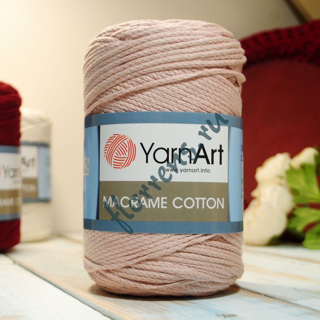 Пряжа Yarnart Macrame cotton / 780 пудра