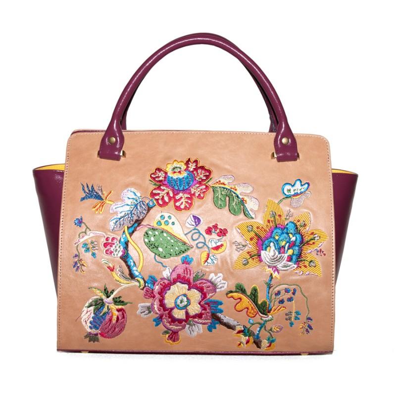 Средняя сумка Цветочная вышивка >Артикул: AA420132