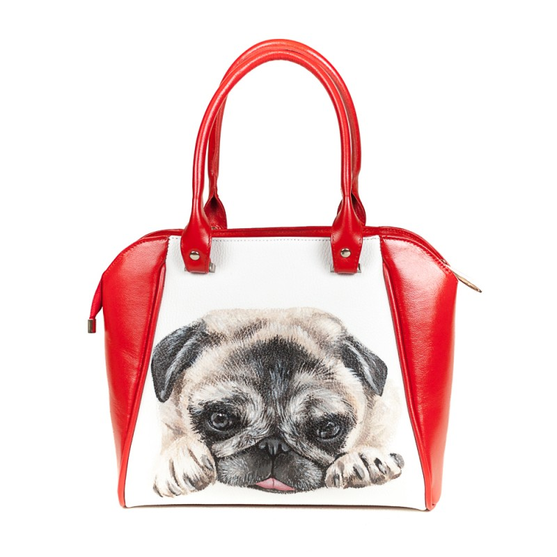 Средняя сумка Мопсик >Артикул: AA230121