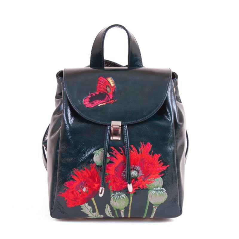 Женский рюкзак Маки вышивка >Артикул: AF120032