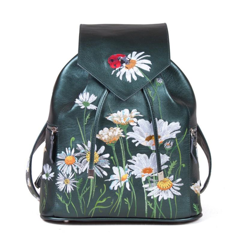 Женский рюкзак Луговые ромашки вышивка >Артикул: AF020432