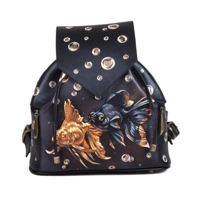 Женский рюкзак Золотые рыбки >Артикул: AF020331