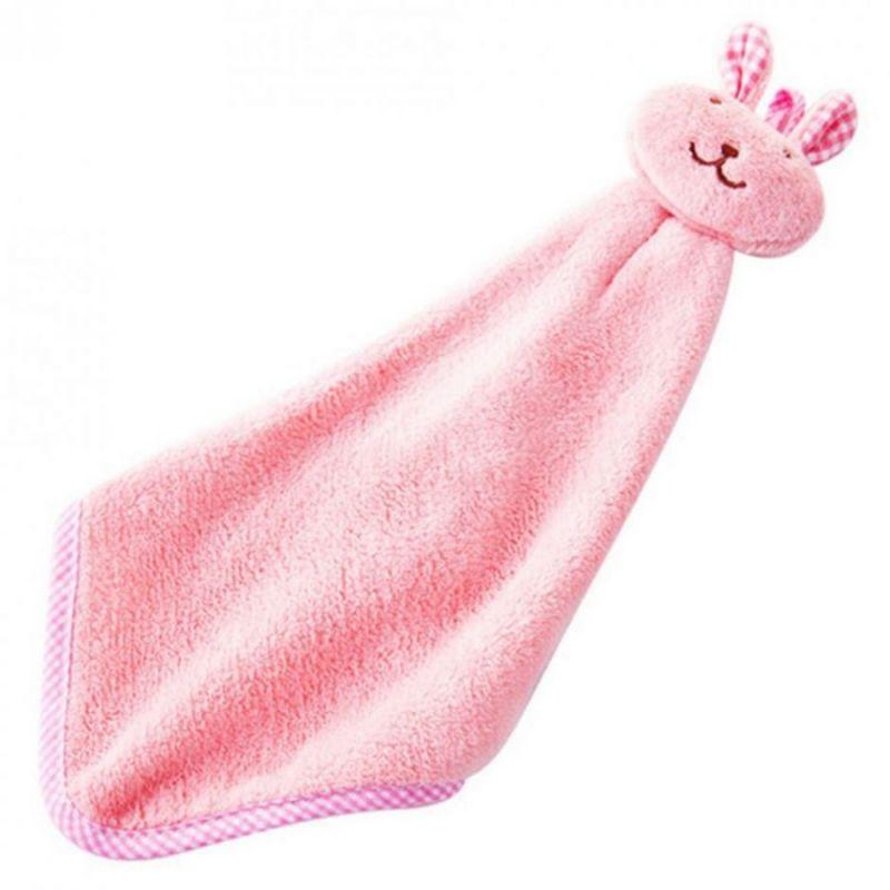 Детское полотенце из микрофибры Зайчик, цвет розовый