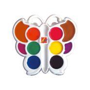 Акварель медовая Луч. БАБОЧКА, 10 цв., пл. коробка фигурная, без кисти (арт. 10С548-08)