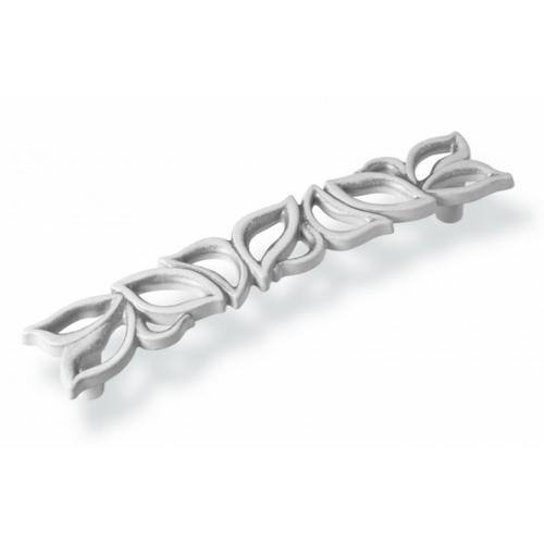 Ручка-скоба FS-189 128 серебро прованс/9003 белый матовый (TЗ)