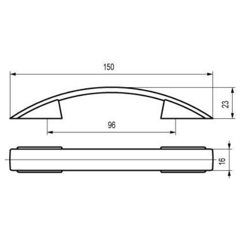 Ручка-скоба S-009096 венге-накатка / St светлый