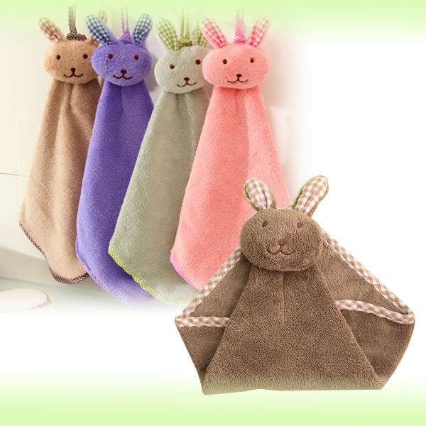 Детское полотенце-игрушка из микрофибры Зайчик
