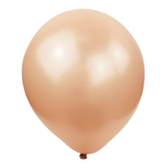 МИНИ розовое золото металлик шар маленького размера латексный с гелием
