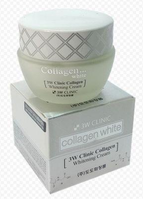 Крем для лица с коллагеном 3W CLINIC ОСВЕТЛЕНИЕ Whitening Cream, 60 мл