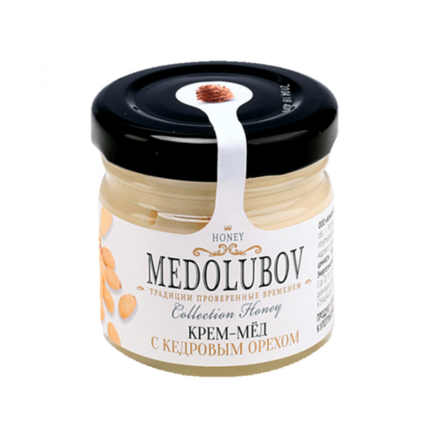 Крем-мёд Medolubov с кедровым орехом 40мл